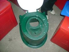 Urine diversion pedestal (old version) (Sustainable sanitation) Tags: kenya toilet plastic rotation moulding sanitation sanitaryware ecosan kentainer kentainers