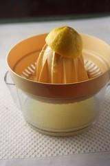 fresh squeezed lemon juice (healthydelicious) Tags: food yellow fruit lemon juice citrus juicer