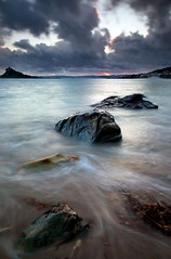 "Stormy Evening - A dark and moody image of Mounts Bay in Cornwall.  A little better if you kindly  <a href=""http://bighugelabs.com/onblack.php?id=4487293447&size=large"" rel=""nofollow"">View On Black</a>"