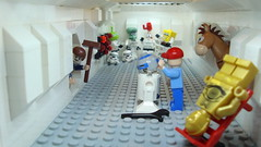 behind the scenes (Legoagogo) Tags: lighting star starwars lego stormtroopers r2d2 wars backstage c3po moc