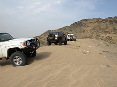 fj cruiser stuck in the middle.1 (shine_on) Tags: 6 inch lift desert mud offroad 4x4 dunes 4 toyota jeddah suv fj landcruiser saudiarabia cruiser rains     bahra    feshfesh  70series