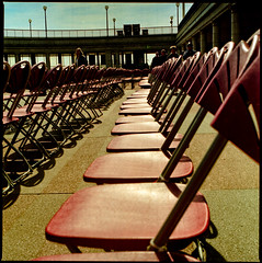 Take a Seat (AndyWilson) Tags: 120 film kodak hasselblad eastbourne bandstand portra adc 500cm 400vc diydeveloping diyc41 tetenal