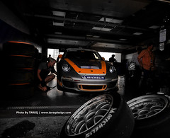 Preparation for the race (Tareq Abuhajjaj | Photography & Design) Tags: auto orange white black car race speed for photo big nikon wheels iso rim rims bbs preparation porshe  tareq        alreem    d700     foilacar tareqdesigncom tareqmoon tareqdesign