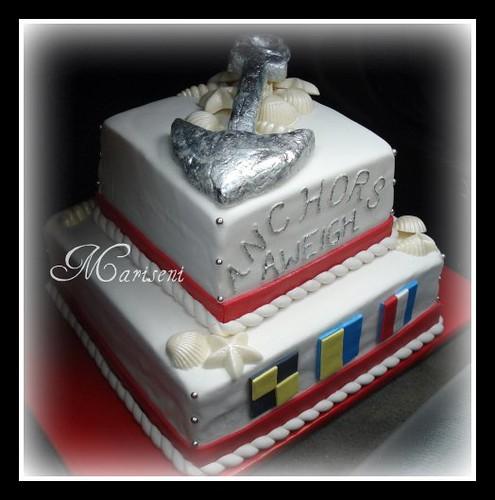 Nautical Themed Retirement Cake