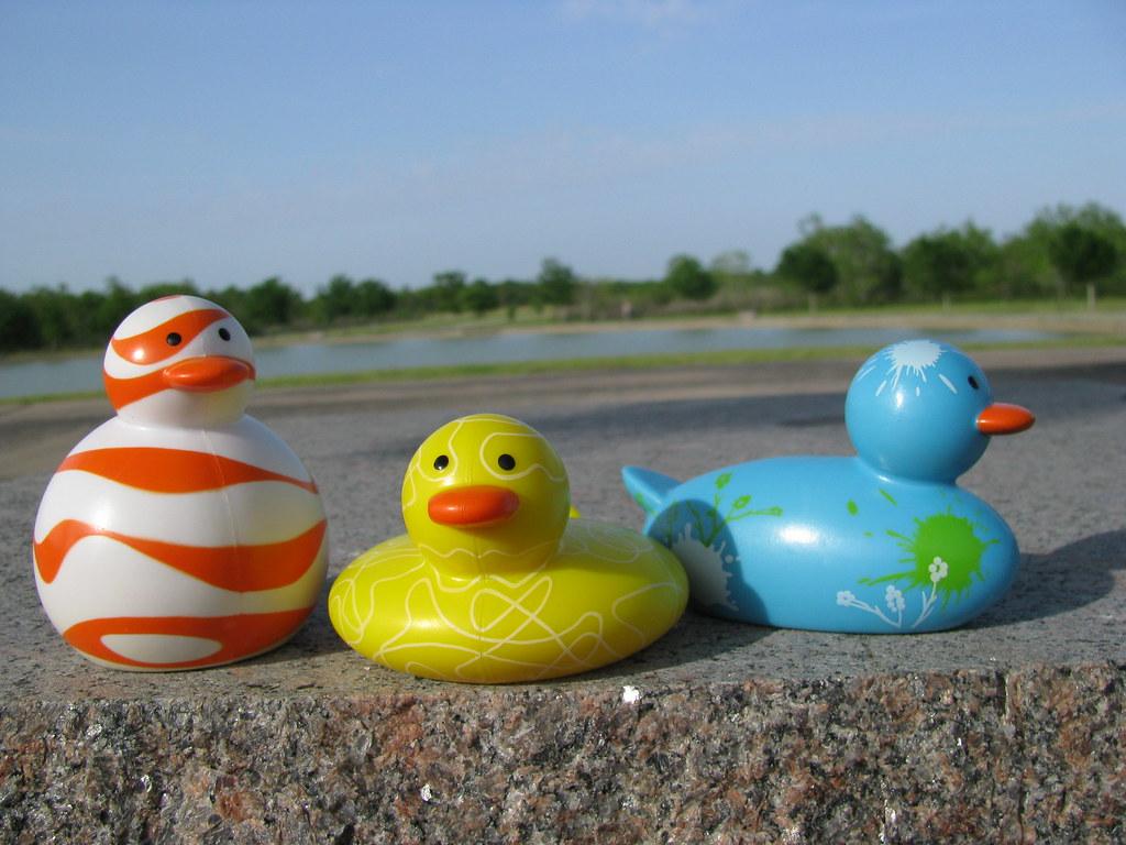 Odd ducks Bob, Squish, and Slim