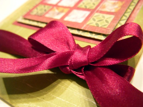 Quilt Inspired card bow