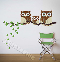 Owl Branch Decals (douglasspics) Tags: family blue baby brown color art colors leaves wall modern mom fun design eyes toddler colorful dad branch room nursery stickers decoration tan vinyl shapes fabric decorating owl decal walls organic etsy decor microscopic decals owls babyroom mustachio playroom nontoxic nurseryroom