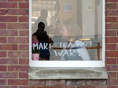 Make tea not war (dawn.v) Tags: window cafe dorset april swanage maketea maketeanotwar