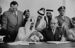 Shukry Kuwatly;Saud Ibn Abdul Aziz [RF: Saudi Arabia RF] (K_Saud) Tags: lebanon king president center east arab saudi arabia summit syria conference middle talking beirut abdul aziz ibn saud shukry timeincown kuwatly 956924