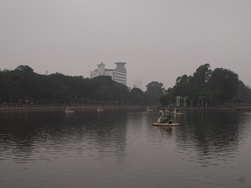 One of the lakes in Hanoi