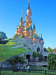 Castle (Elysia in Wonderland) Tags: park sleeping holiday paris france green castle bright disneyland bluesky disney beautys theme eurodisney parc elysia disneyphotochallengewinner