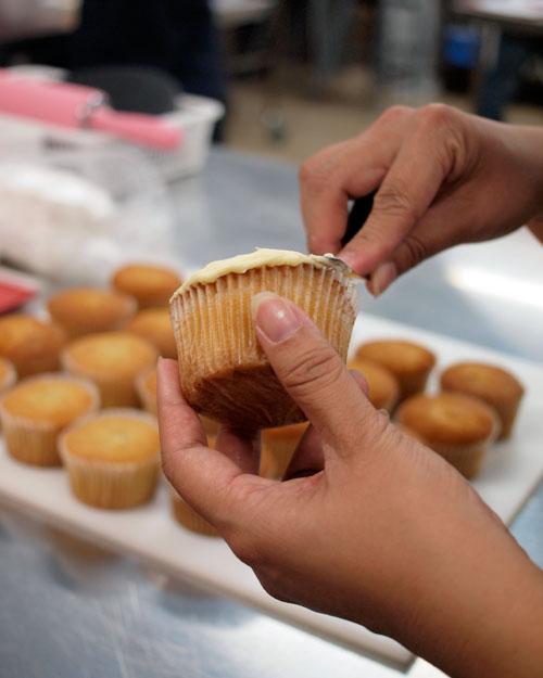 Planet Cake Cupcake Ganache