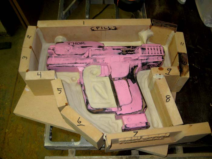 Pistol Mold Prepped