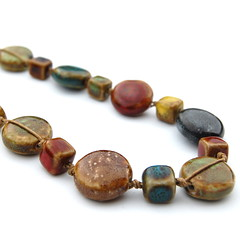 Ceramic necklace (amidesigns2008) Tags: multicoloured amidesignsetsyhandmadejewelryjewellerybeadedukceramic