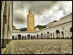 Masjid & Tomb  Moulay Idriss ! (Bashar Shglila) Tags: sky art clouds muslim mosque morocco maroc masjid islamic meknes   masjed moulay idriss      tafilalet    zerhoun mygearandmepremium mygearandmebronze mygearandmesilver mygearandmegold