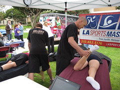 LASM at the expo! (LA Sports Massage) Tags: california ca sports training la losangeles team university expo free health volunteering massage loyola westside volunteer tnt marymount teamintraining lmu loyolamarymountuniversity lasm lasportsmassage hoopnotic
