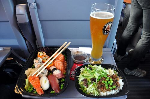 Sushi og hvedeøl