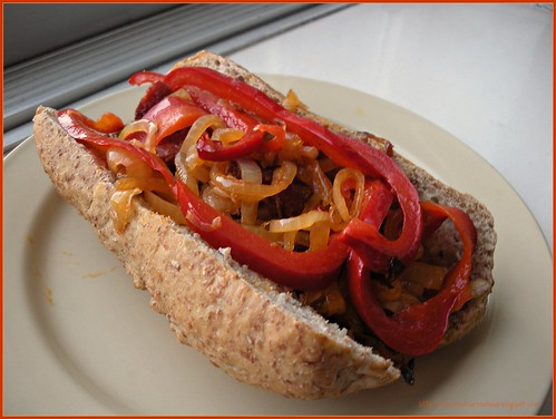 Sausage, Chicken, Peppers & Onion Sandwich