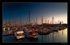 (Ferran Puig) Tags: barcelona sea espaa beach mar spain barcos ships playa barceloneta