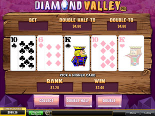 free Diamond Valley Pro gamble feature