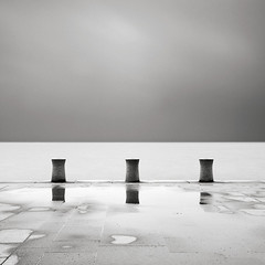 Security (Maria Stromvik) Tags: longexposure rain puddle post sweden balticsea quay malm resund ndfilter vstrahamnen