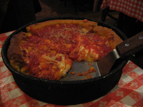 Gino's East Four Cheese deep dish pizza by (monica)