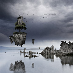 tree biotope III (grohsARTig // martin-grohs.com) Tags: sky house tree water birds clouds photoshop manipulated creativity see three interesting rocks experimental creative surreal manipulation treehouse biotope lebensraum quadrature grohsartg martingrohs grohsartig wwwmartingrohscom stonedigitalexperienceagency