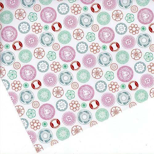 Vintage Buttons Gift Wrap