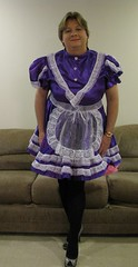 Chrisissy Sissy Maid in Purple 2 (Chrisissy) Tags: tv purple cd expose sissy maid frenchnails ts petticoats chrisissy