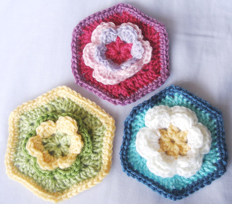 Hexagon Rose (with pattern)