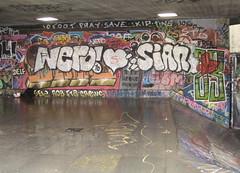 (Lettuce.) Tags: streetart london graffiti southbank nero sian skatespot snub fta se12 aob 10foot ripozone