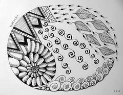 Korowai (Jo in NZ) Tags: drawing doodle zentangle nzjo zendoodle