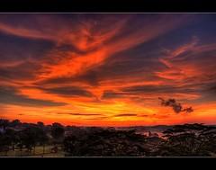 Sunrise, Sembawang - HDR (dxsibo o(_)o) Tags: sky sun film clouds sunrise lens high singapore fuji dynamic pro kit rise range hdr fiery s5 sembawang photomatix
