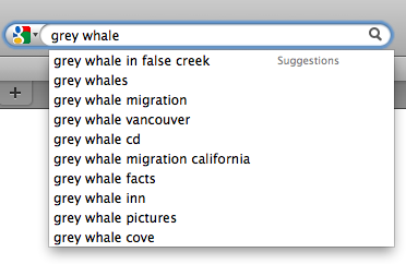 Google Suggest is Fast