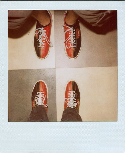 bowling shoes.