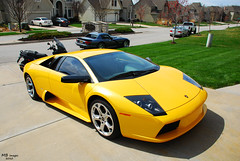 Lamborghini Murcilago (Matthew Britton) Tags: auto orange black cars car yellow nikon muscle matthew rear fast images dodge acr lamborghini mb v10 gallardo britton murcilago gts v12 lambo vipers d40x