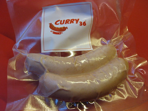 Curry 36 vacuum sealed sausage