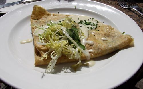 Mon Ami Gabi - Chicken, Brie, Spinach Crepe