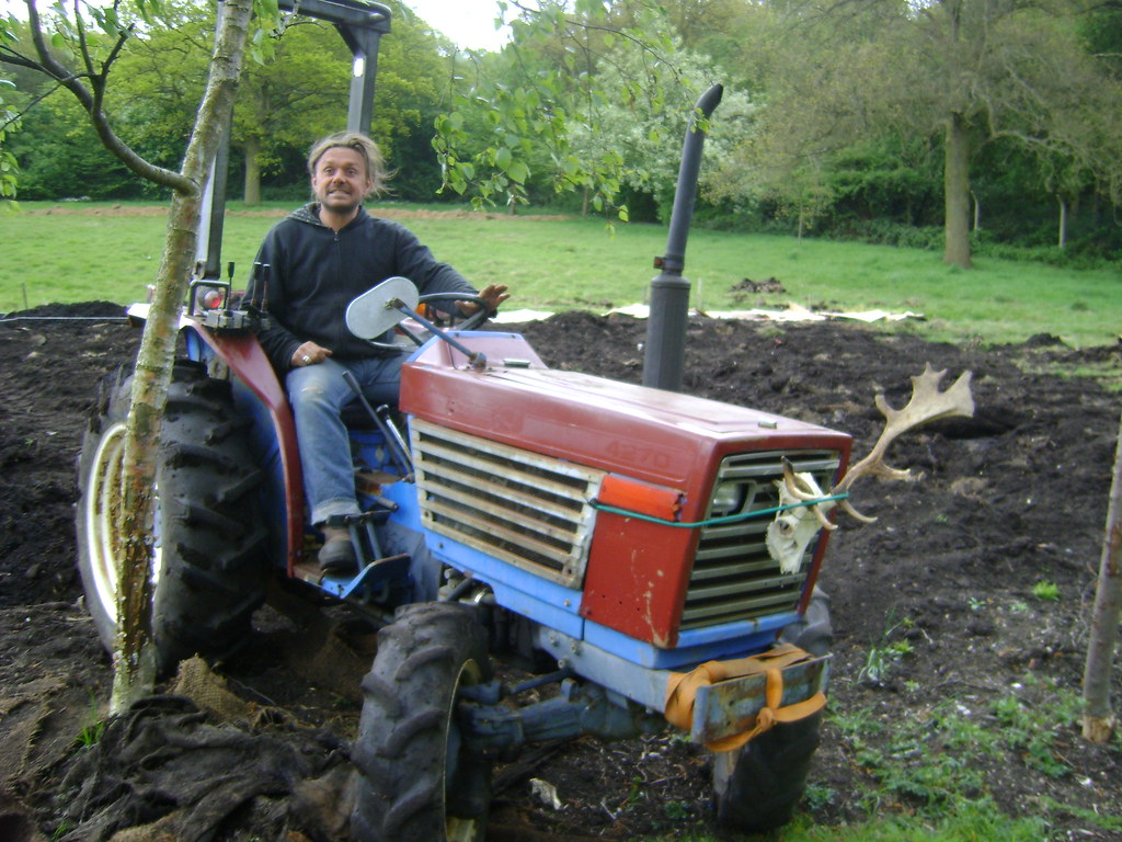 Huf and the big tractor