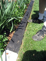 building the stone edging