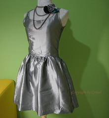 silver princess dress