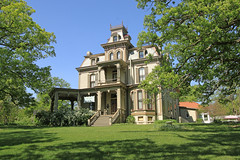 Garth Woodside Mansion, circa 1871 (Black.Doll) Tags: tower victorian missouri mississippiriver hannibal marktwain italianate marioncounty 1871 mansard greatriverroad nationalregisterofhistoricplaces