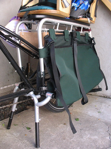 Newly finished pannier bag