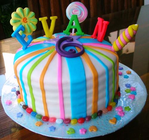 Evan's Rainbow Candy Cake