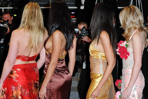 Four sexy Thailand Actresses at Lung Boonmee Raluek Chat red carpet in Cannes
