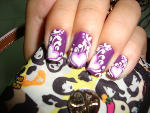 Лёгкие дизайны ногтей акриловыми красками