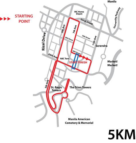 The Bottle School Run 2010 - 5K Map
