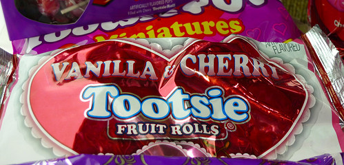 Vanilla and Cherry Tootsie Fruit Rolls