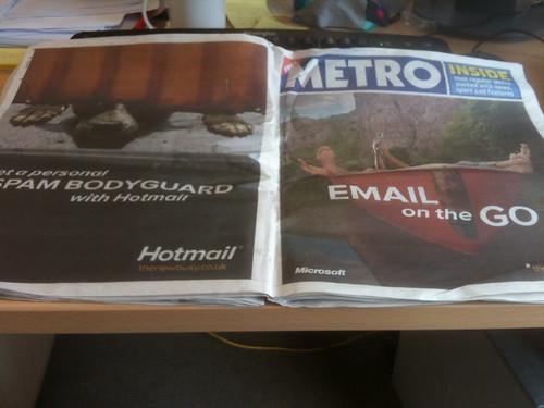 Hotmail in the Metro