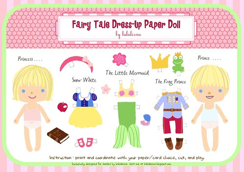 babalisme: Fairy Tale Paper Doll Printable